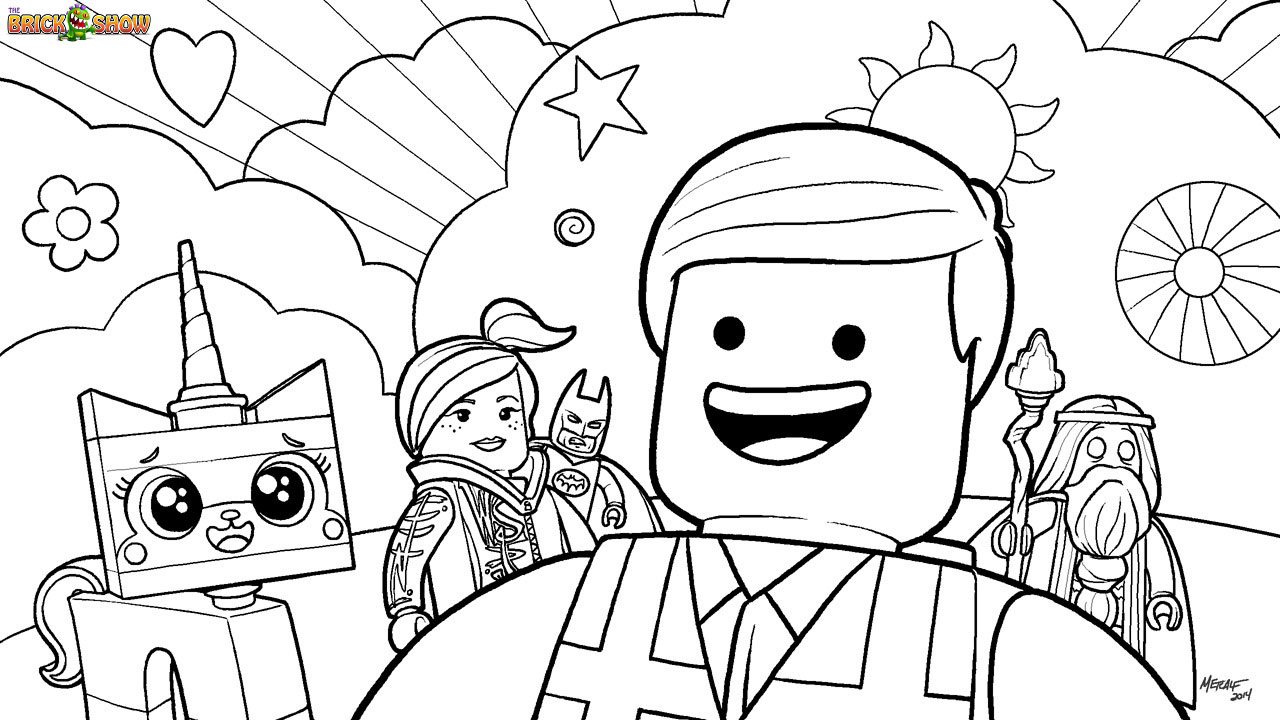 Printable Lego Colouring Pictures : The lego movie coloring pages free printable