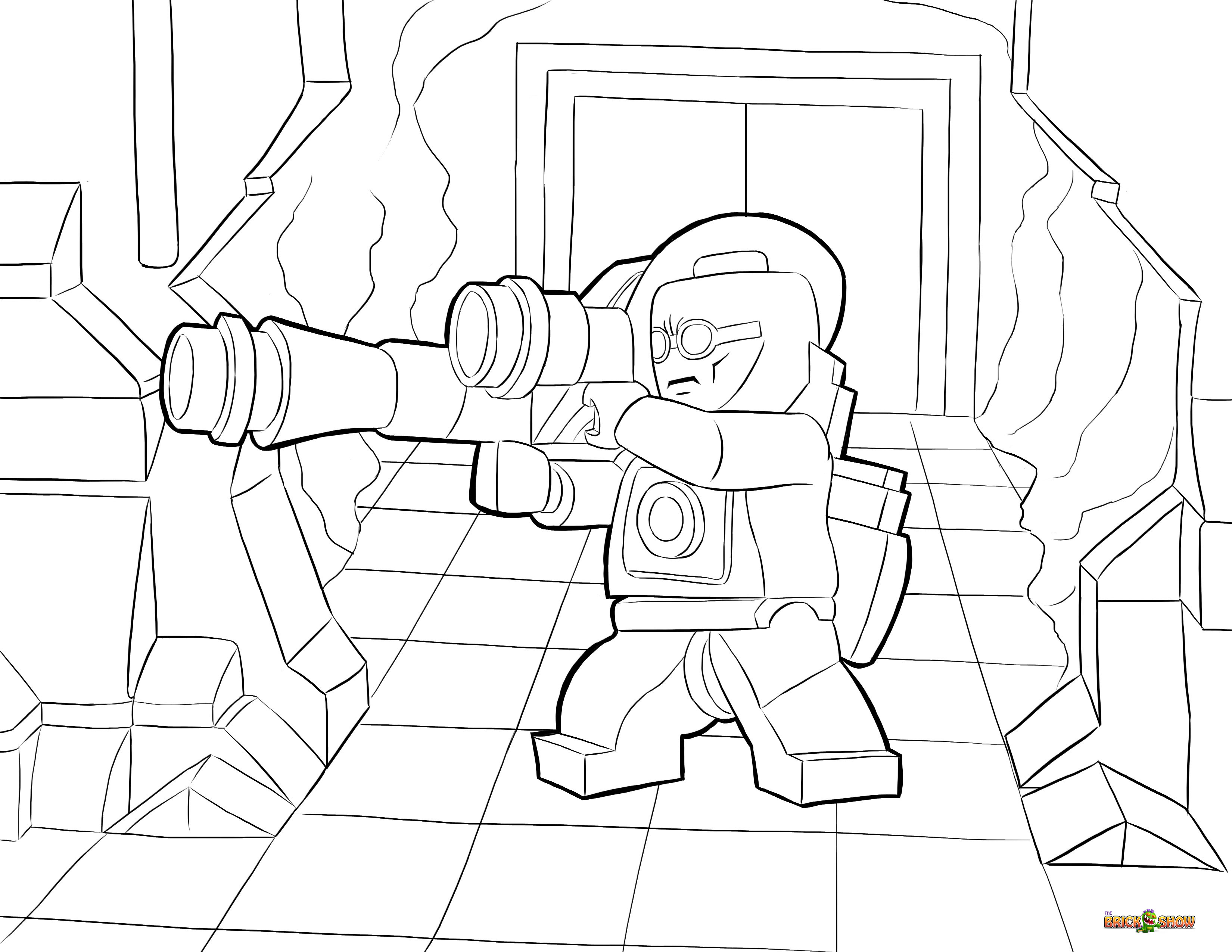 dc lego coloring pages - photo#15