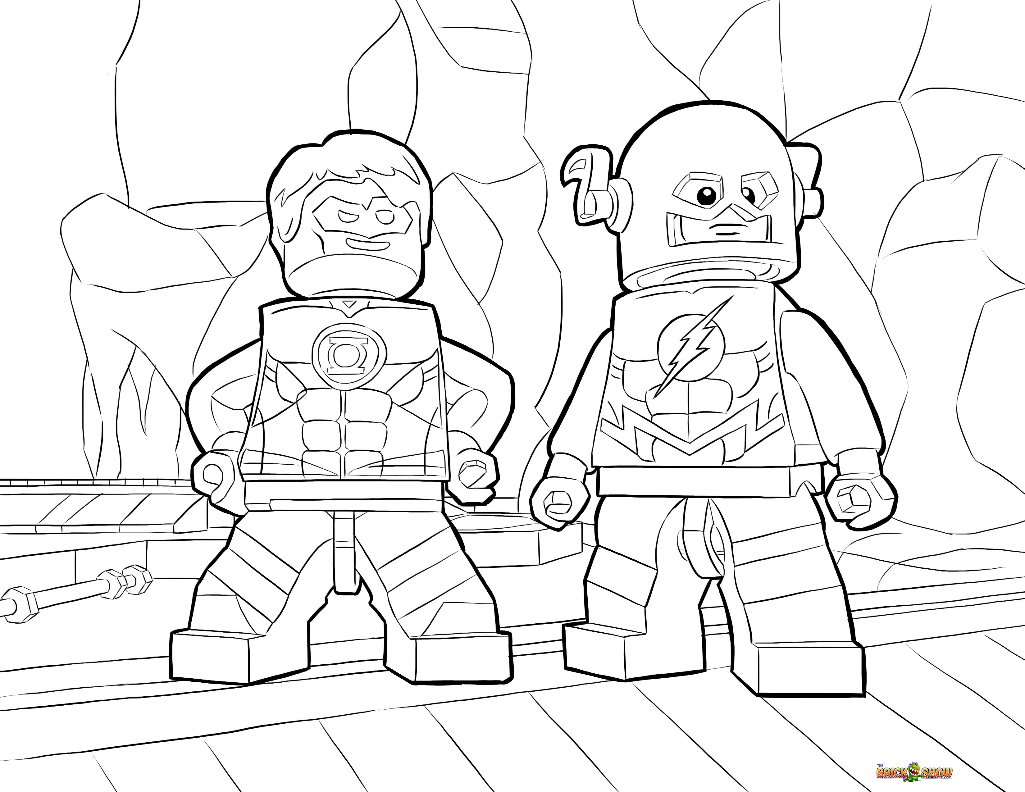 LEGO Batman 3 Beyond Gotham Coloring Pages The Brick Fan