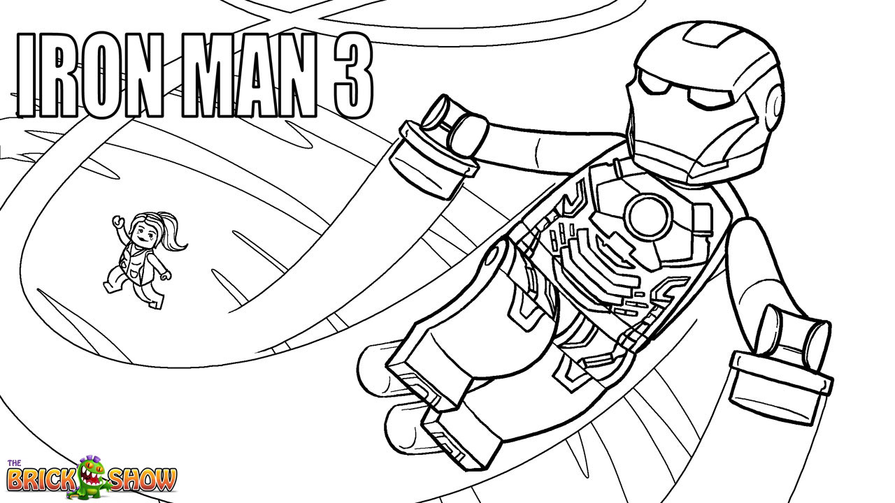 Iron Man Coloring Book Games : Lego marvel super heroes coloring pages free printable