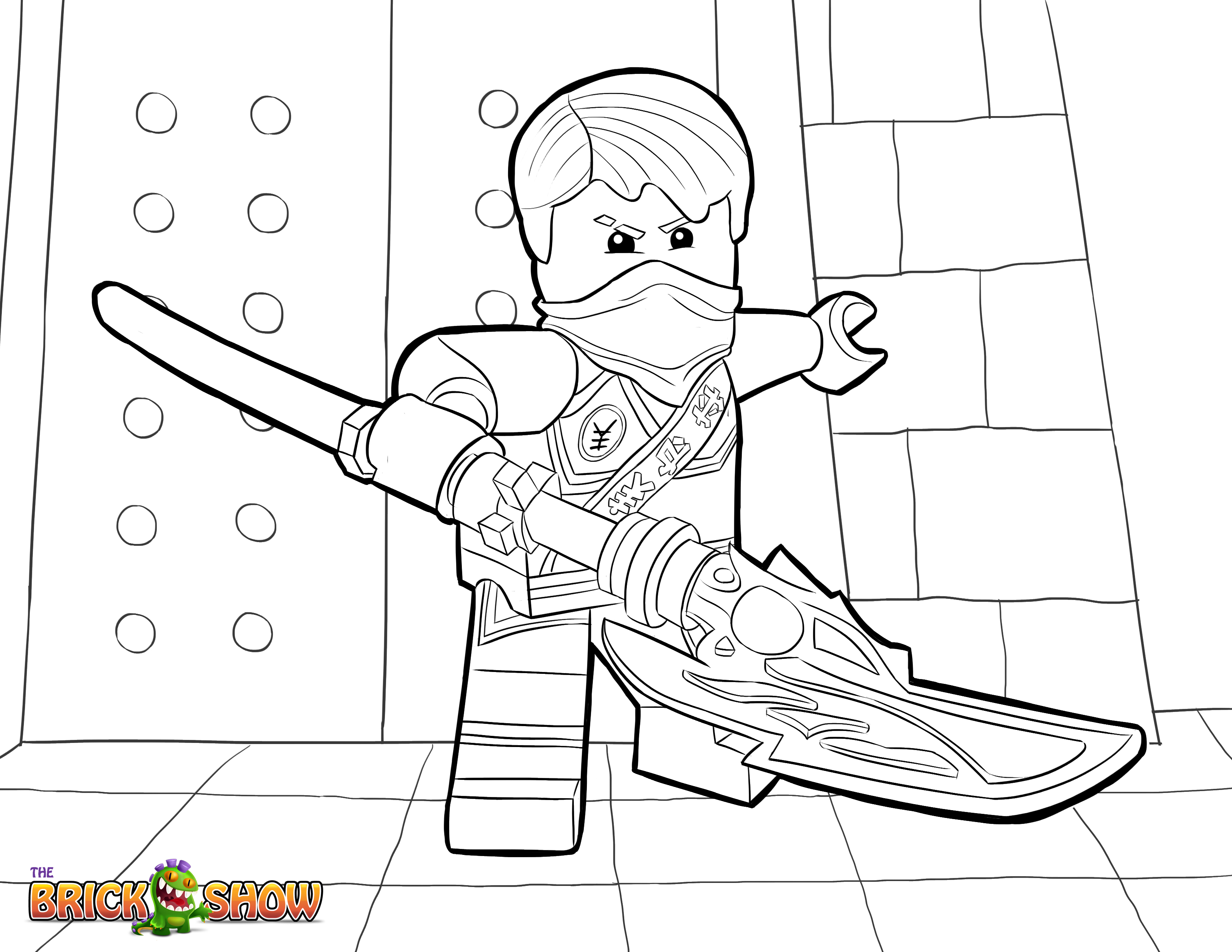 ninjago weapons coloring pages - photo#34