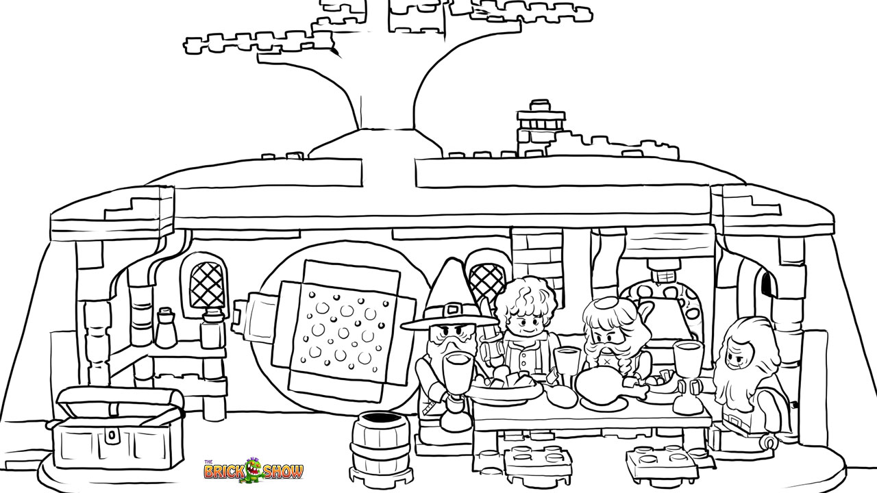 LEGO Hobbit Coloring Pages Free Printable LEGO Hobbit