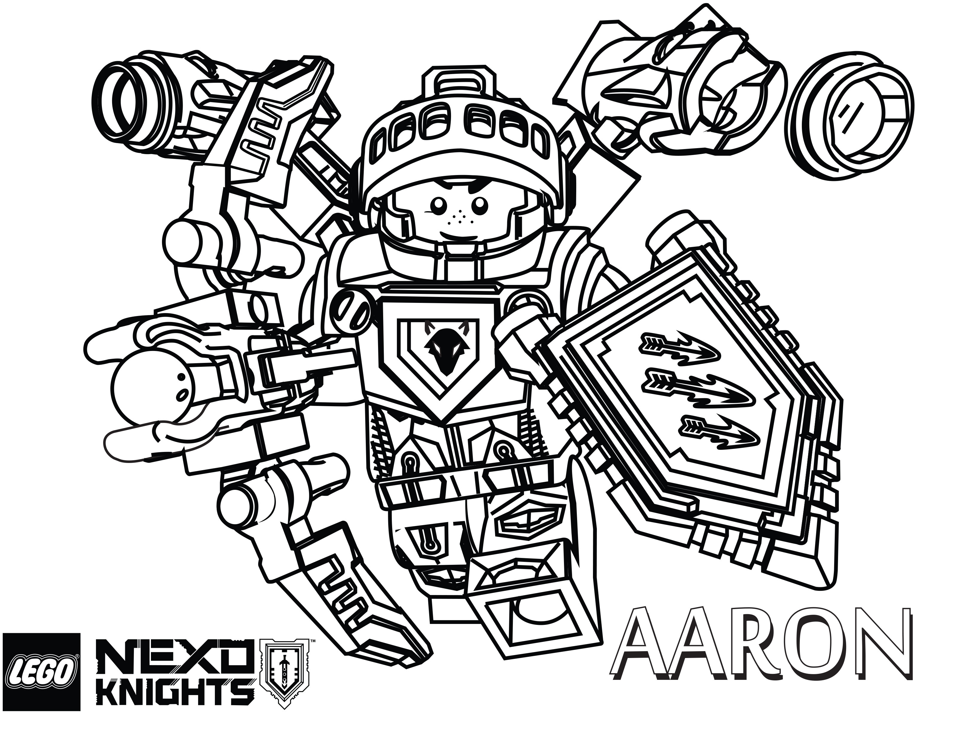 Lego Nexo Knights Coloring Pages The Brick Fan