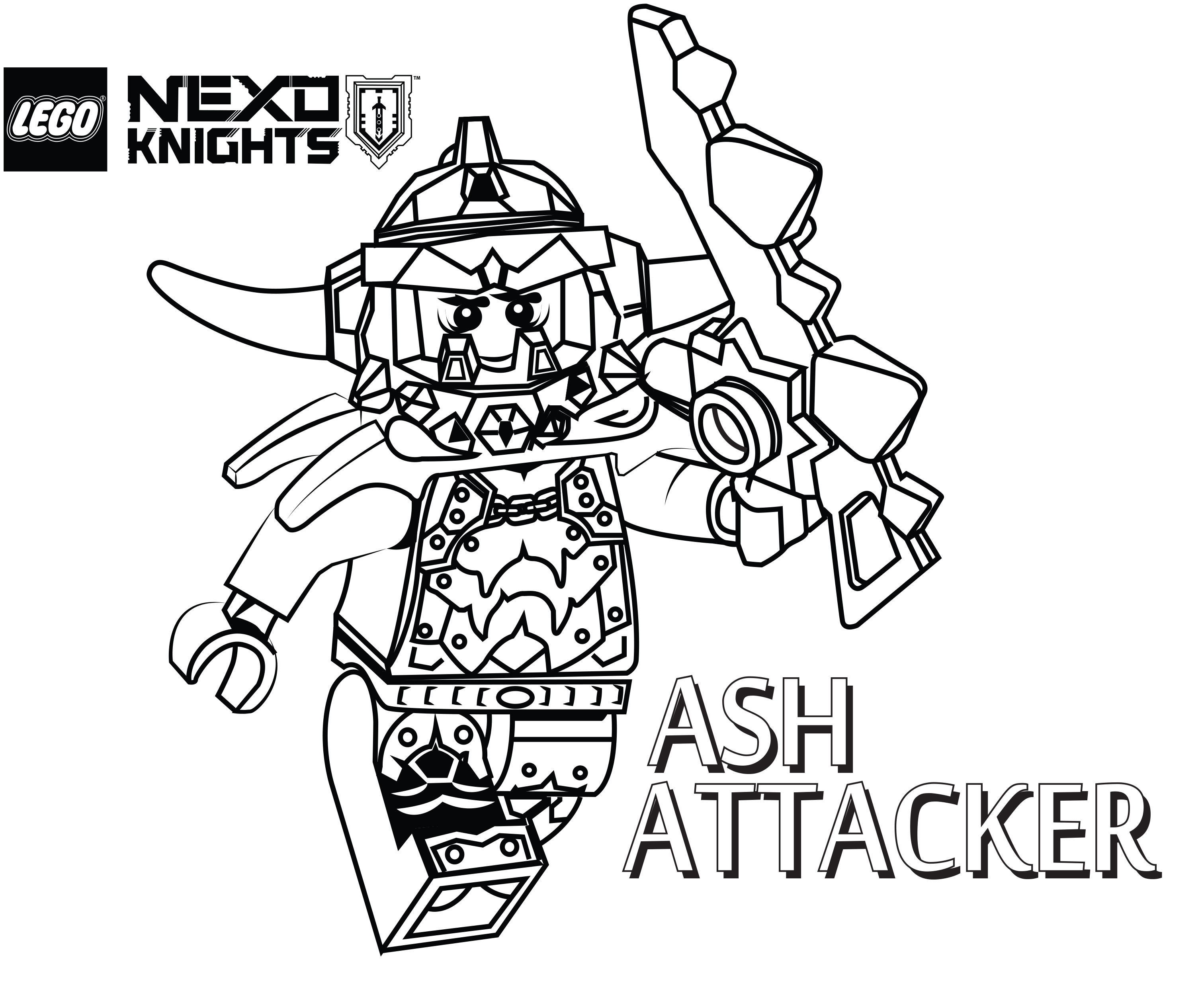 Lego Nexo Knights Coloring Pages : Image gallery lego knights coloring pages