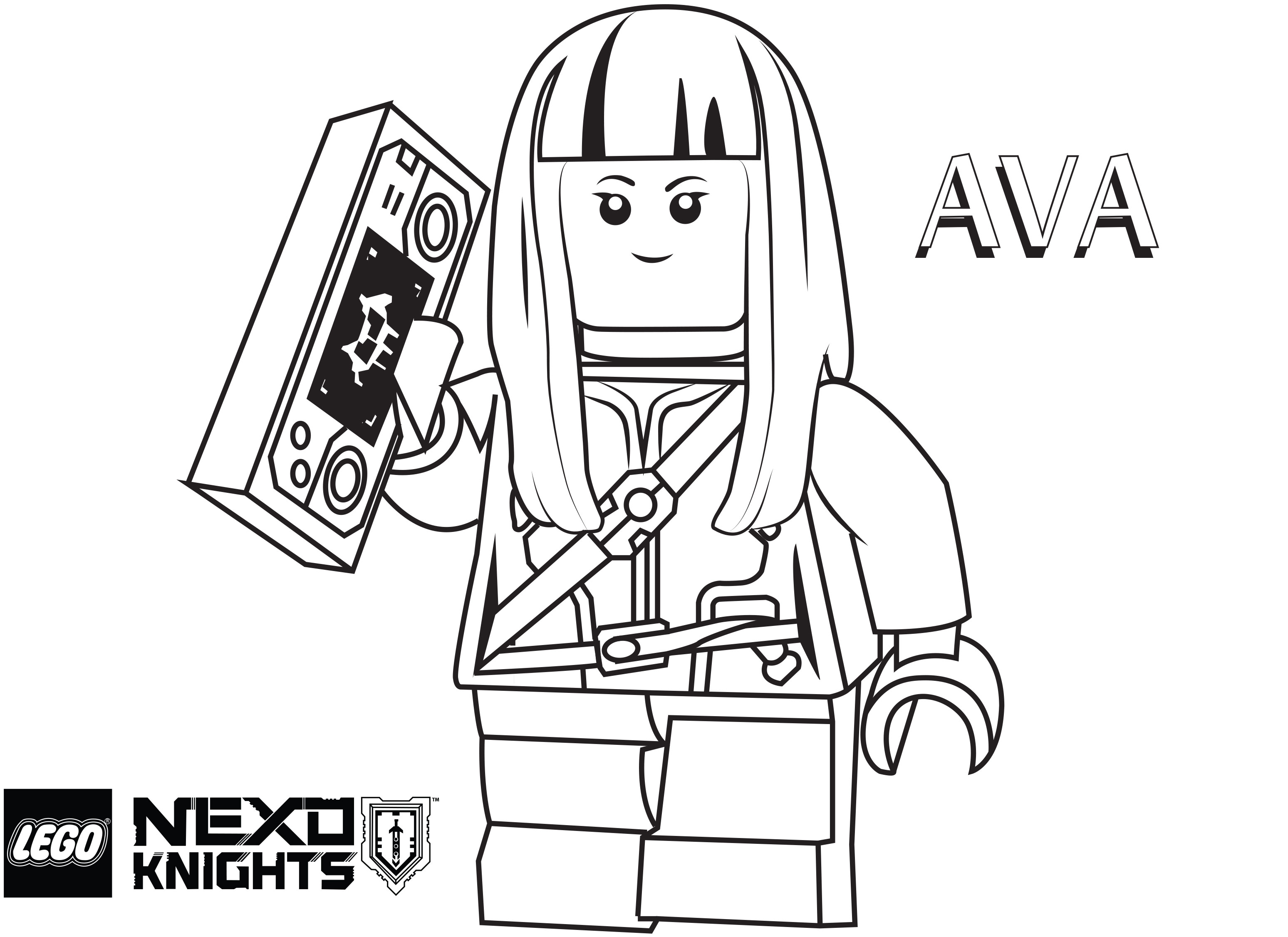 Nexo Knights Coloring Pages : Free coloring pages of lego knights
