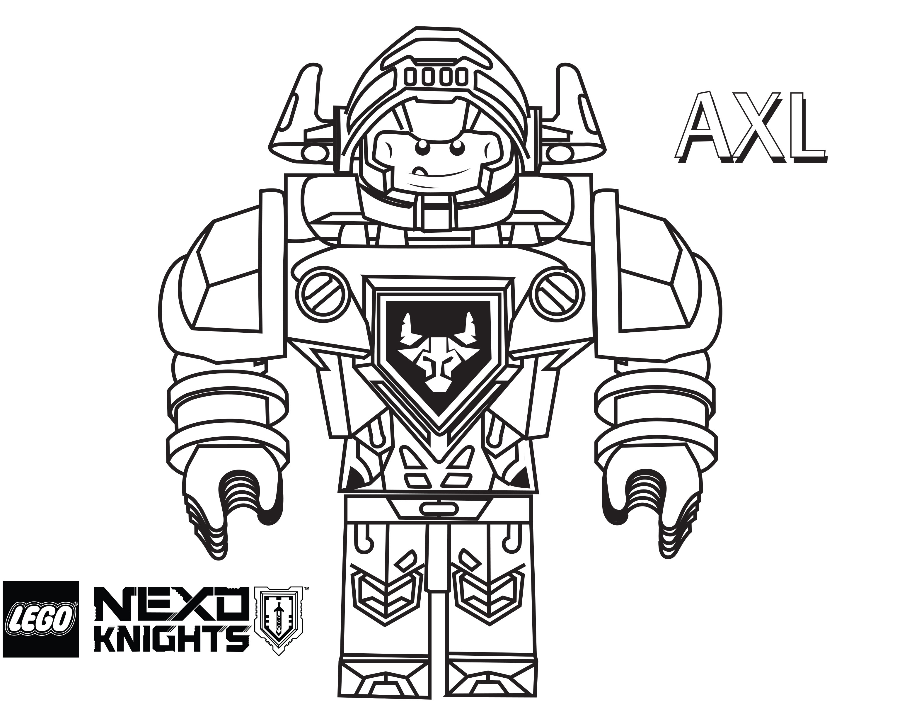 Lego Nexo Knights Coloring Pages : Free coloring pages of lego knights