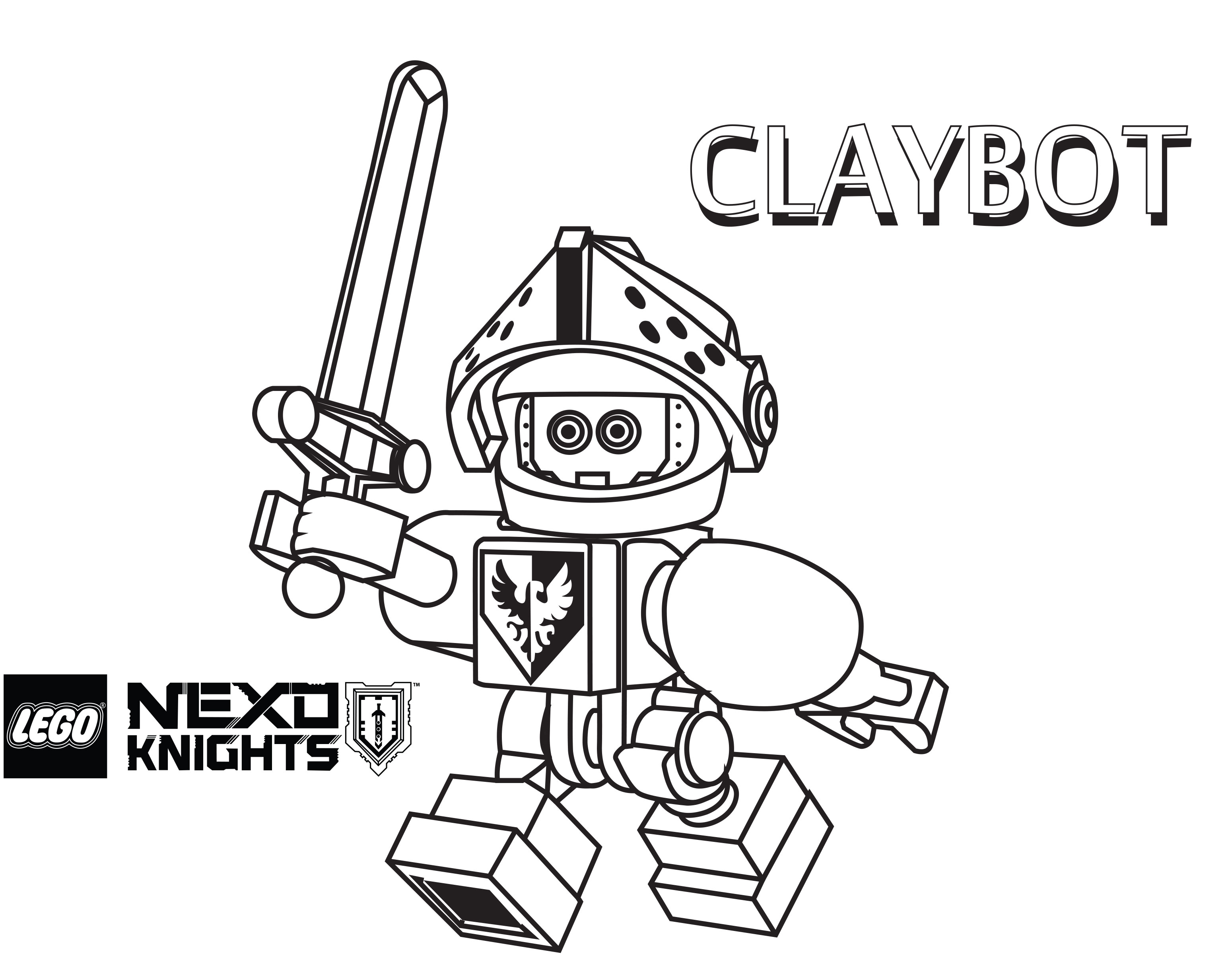 lego knight coloring pages - photo#7