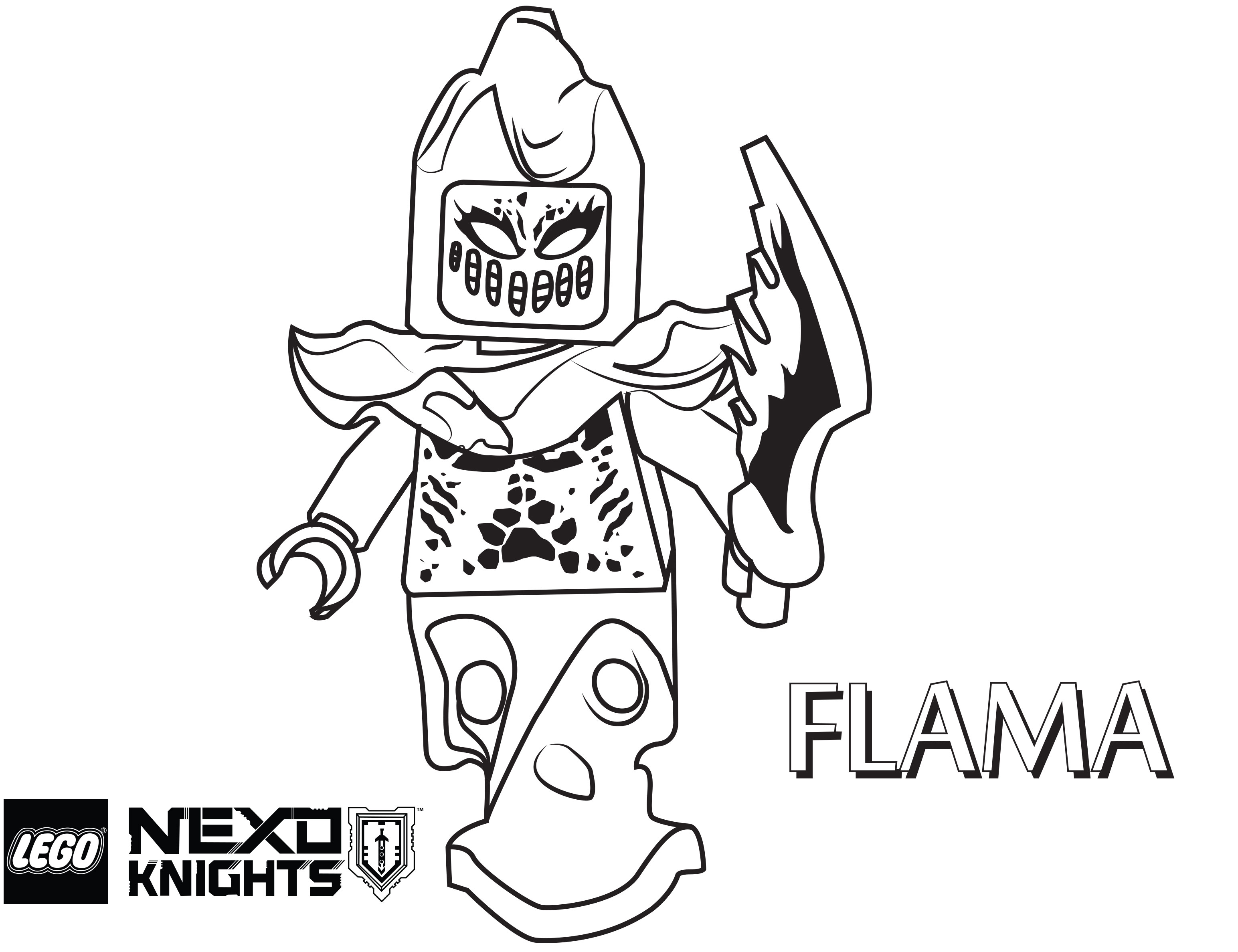 Lego Nexo Knight Clay Coloring