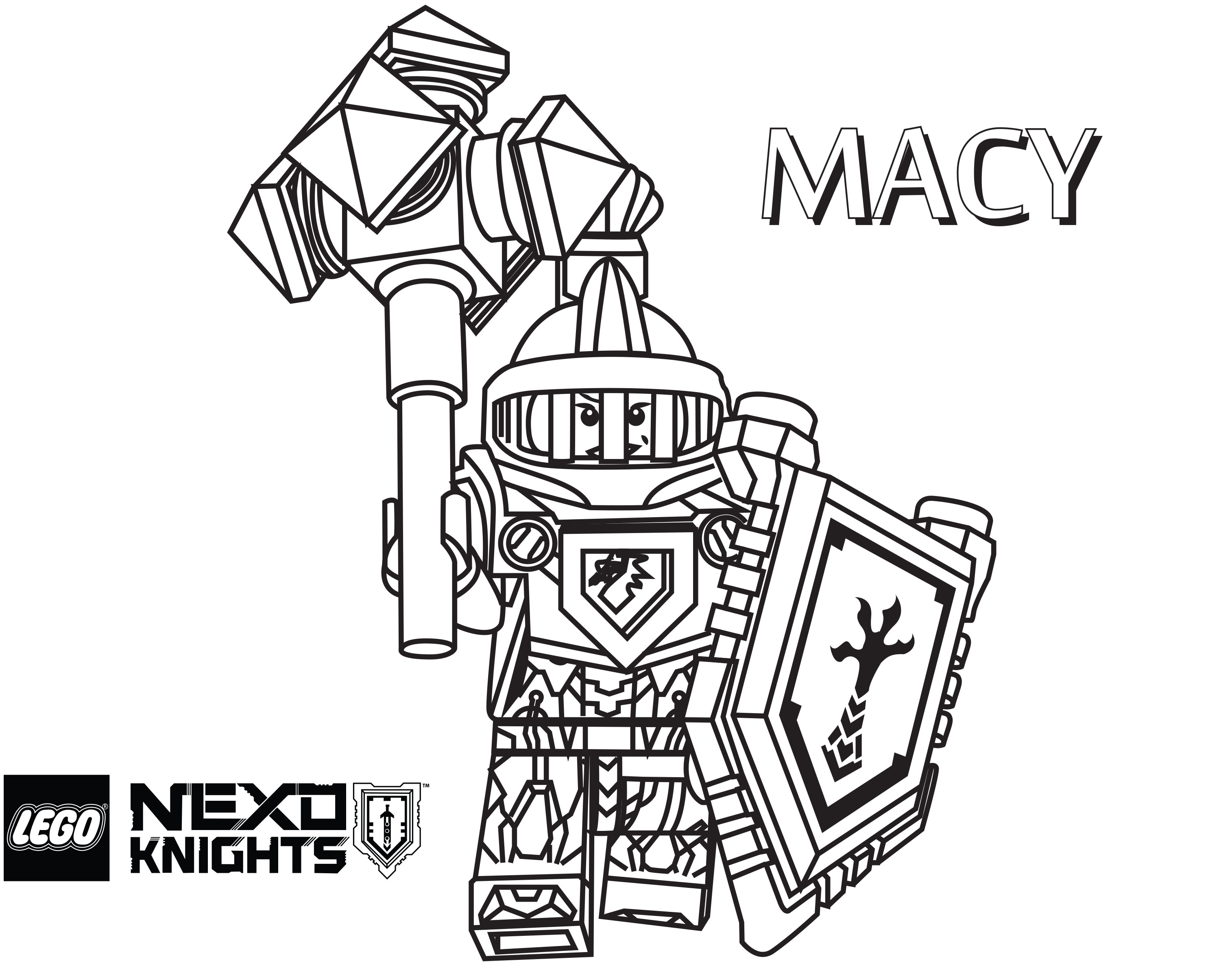 Lego Knights Coloring Pages