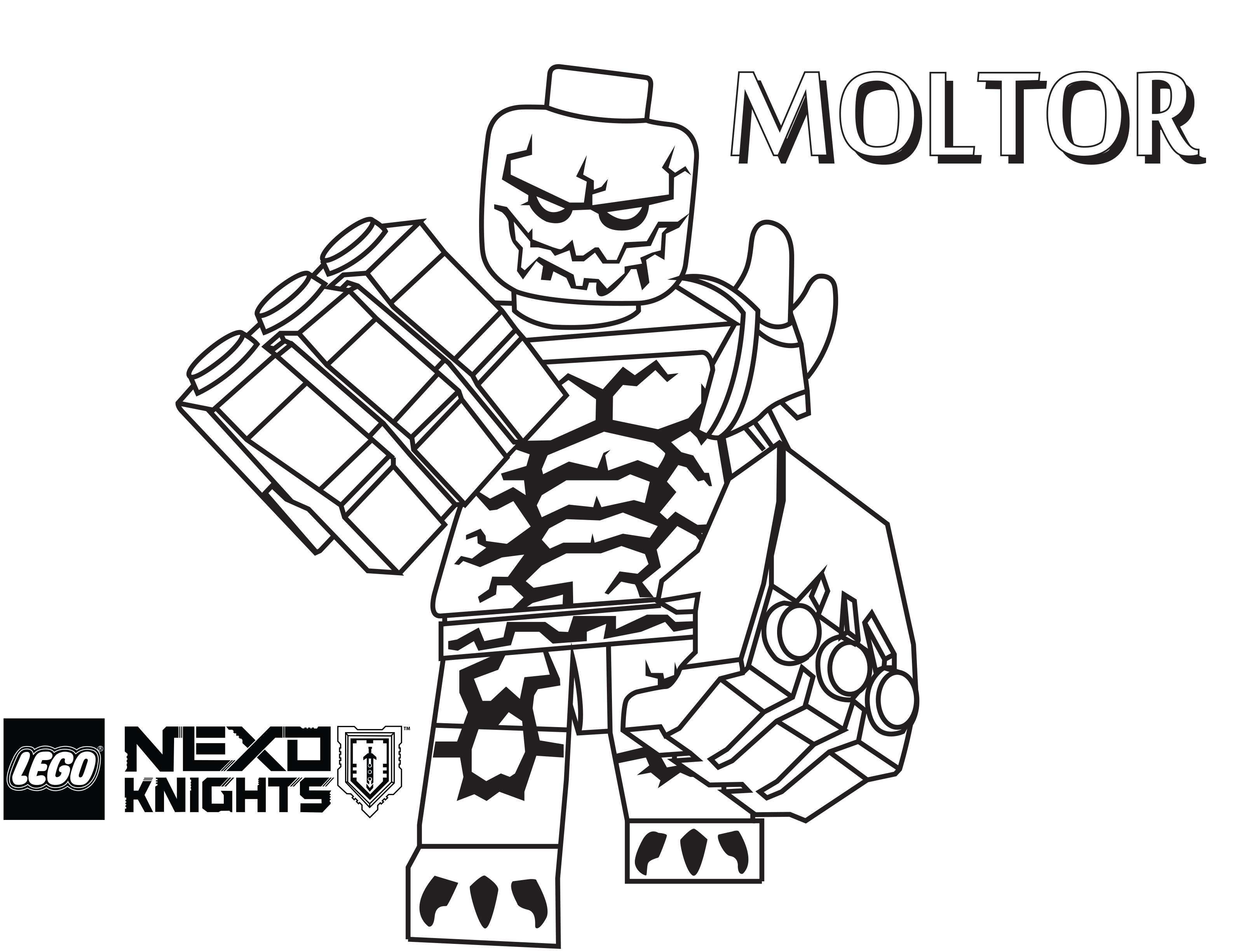 Coloring Pages Nexo Knights : Free coloring pages of lego knights