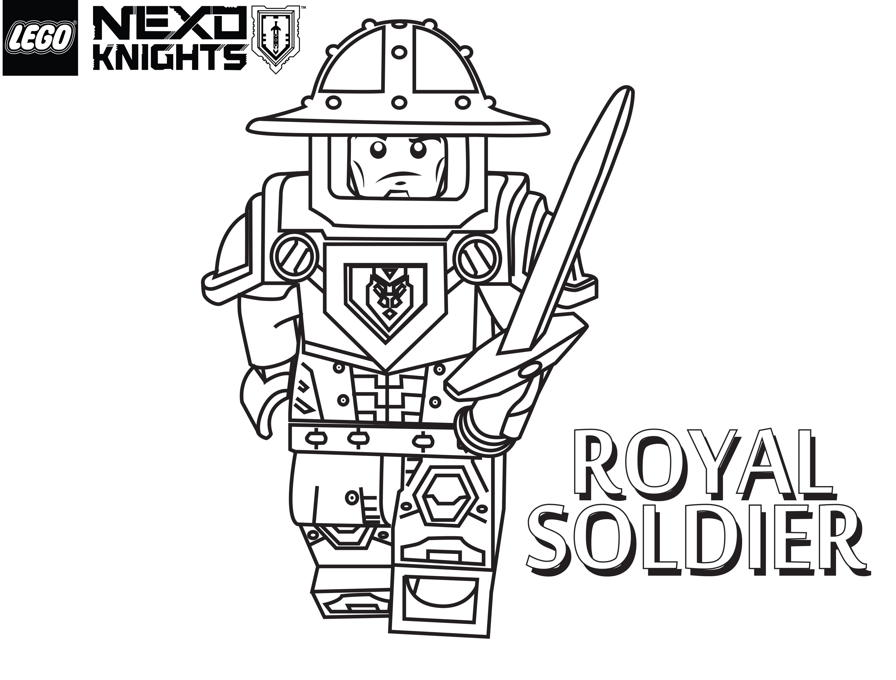 Lego Nexo Knights Coloring Pages : Lego knights coloring pages