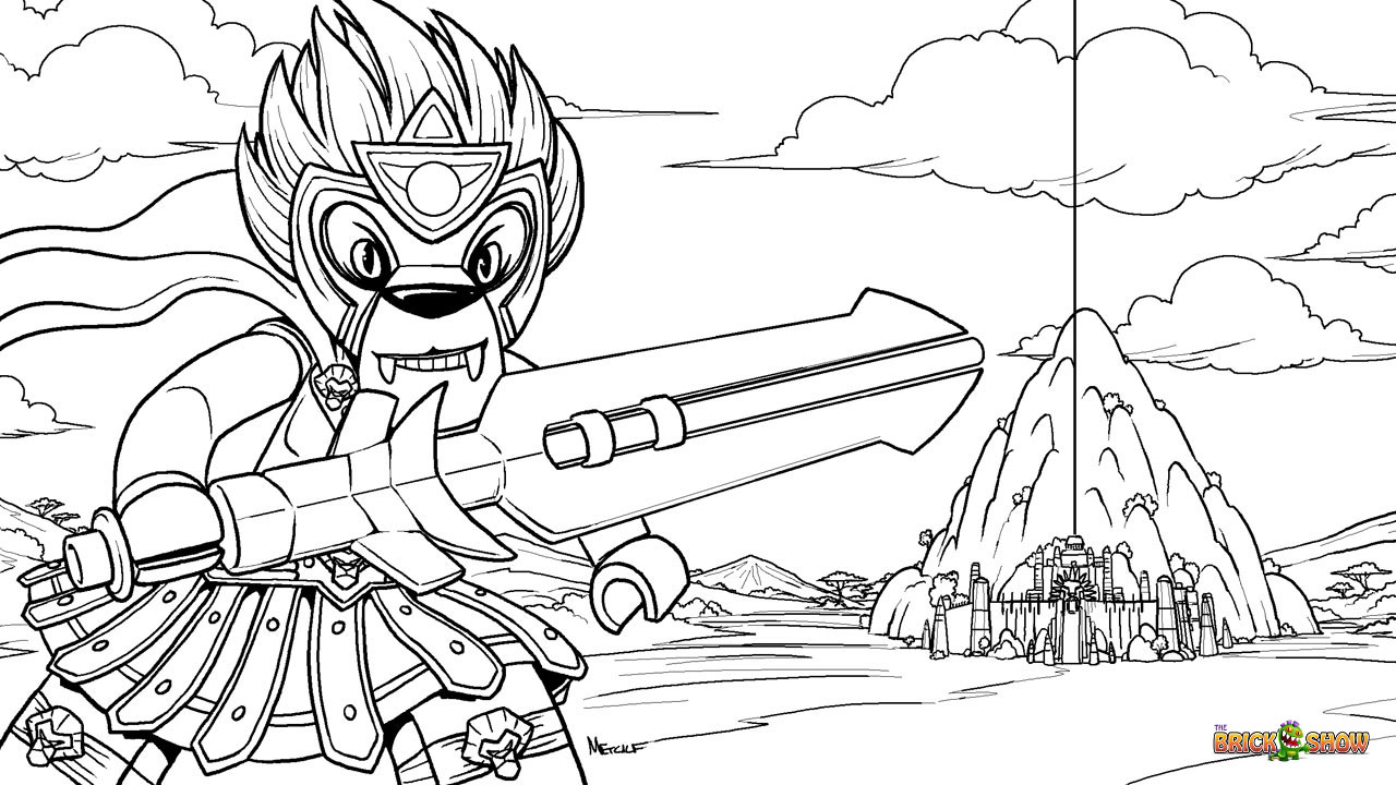 LEGO Legends of Chima Coloring Page, LEGO LEGO Laval and the CHI Temple Printable Color Sheet