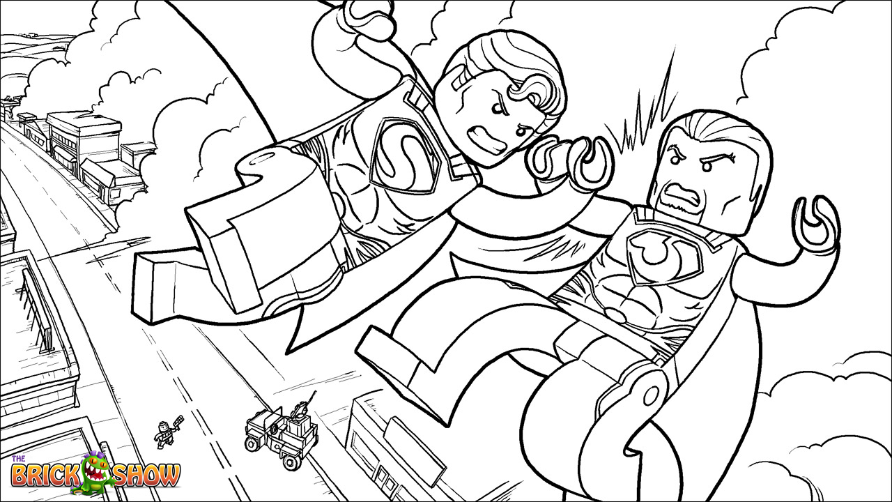 lego superman coloring pages - photo#9