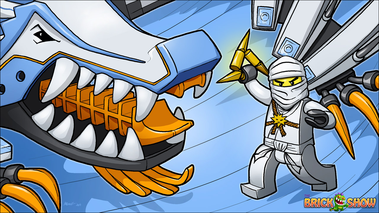 LEGO Ninjago Zane And His Ice Dragon Coloring Page