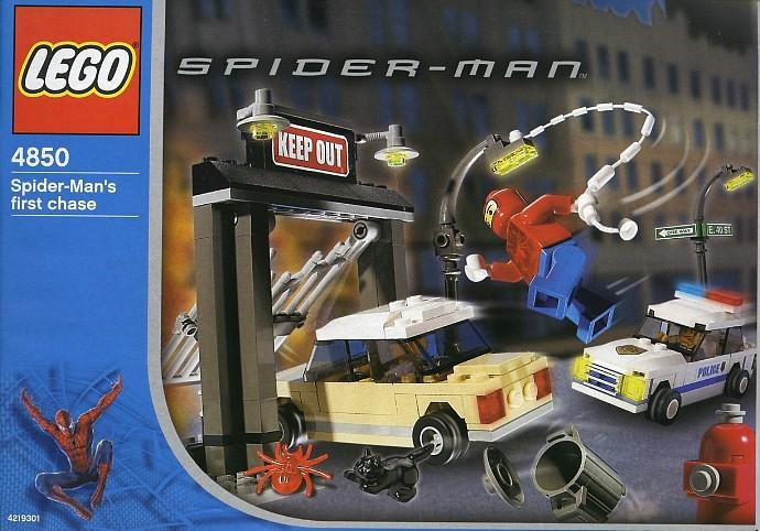 lego spiderman train