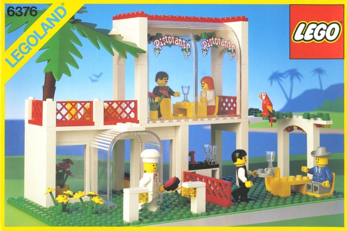 LEGO Town Breezeway Caf Set Review Pictures LEGO 6376