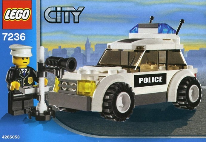 LEGO City Police Car Set Review, Pictures : LEGO 7236