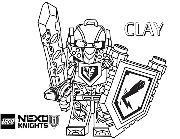 Lego Nexo Knights Coloring Pages : Lego nexo knights clay coloring pages